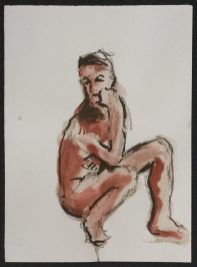 1986 Ink and brown chalk 15 x 11 in.