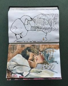 Sketchbook, Roberto Sleeping, 1987