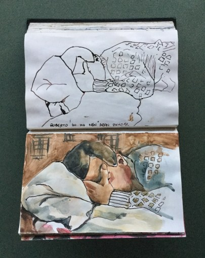 Sketchbook, Roberto Sleeping, 1987