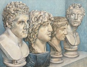 Four Roman Marble Heads,