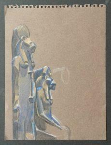Two Statues of the Goddess Sakhmet,