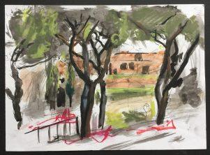 Park, Rome, 1988