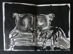 """Metamorphosis"" Sketchbook, Approx. 5 1/2 x 4 in., 1985"