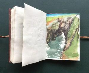 Sketchbook - The Bullers of Buchan, Scotland, 2002