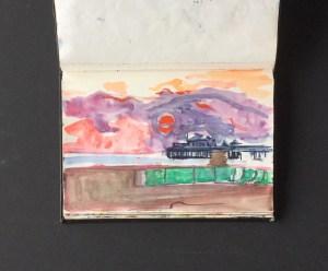 Sketchbook - The Pier, Brighton, 1986