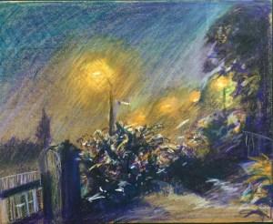 Nighttime, Hard Lane, St Helens, 1980