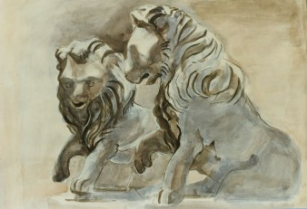 Pair of Lions, Italy, 1987, Private Collection