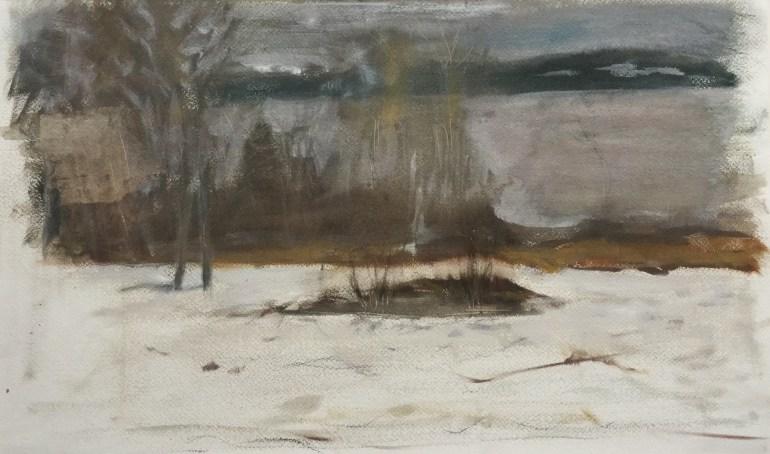 Coastal View - December, Castine, 2010