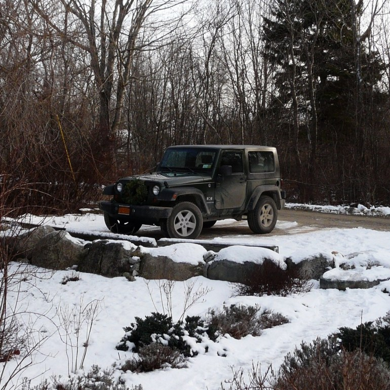 Jeep Wrangler, Maine, December, 2010