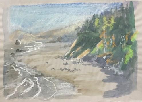 Scott Creek from Otter Point, 2009
