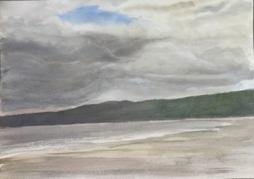 The Beach at Tala Shore, Storm Approaching, June, 2016