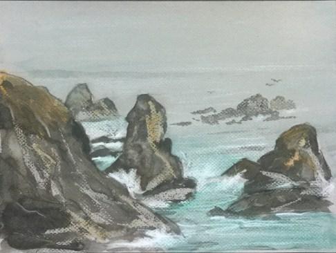 Rocks, Shoreline Highway, 2013