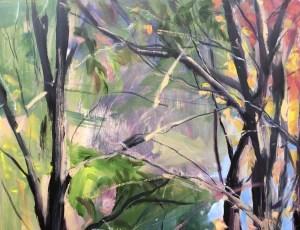 Detail - Upton Lake, Through the Trees, October 26th, 2019