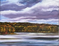 Upton Lake, Big Clouds, October 18th, 2019