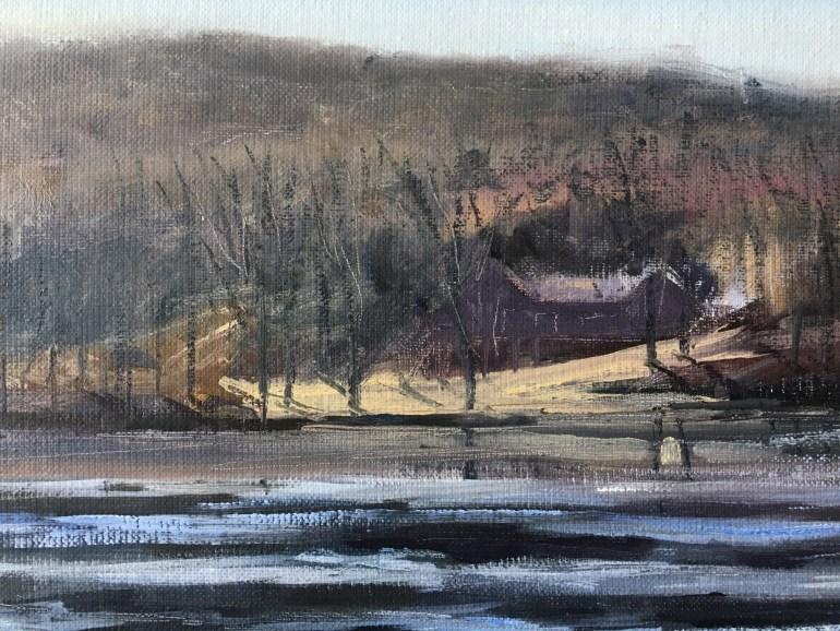Detail - Upton Lake, partially frozen, February 17th, 2020