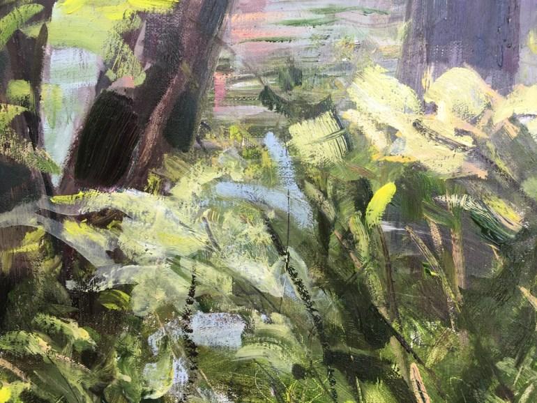 Detail - Upton Lake through the Trees, 3:45 pm, May 19th, 2020