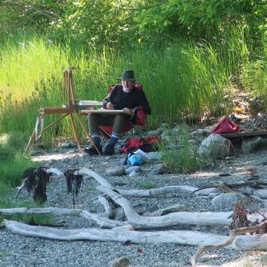 MG painting, Medomak River, July 5th, PHOTO _ Mark Powell