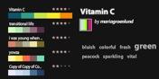 Screenshot des Farbkatalogs von kuler