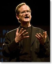 Lawrence Lessig bei einem seiner Vorträge