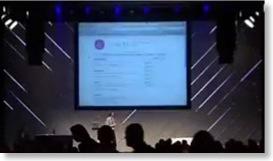 Bühne während eines Vortrags auf der Next-Web-Konferenz 2008