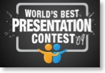 Logo des World's Best Presentation Contest auf slideshare