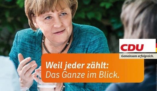 """CDU-Wahlplakat: """"Weil Jeder zählt."""""""