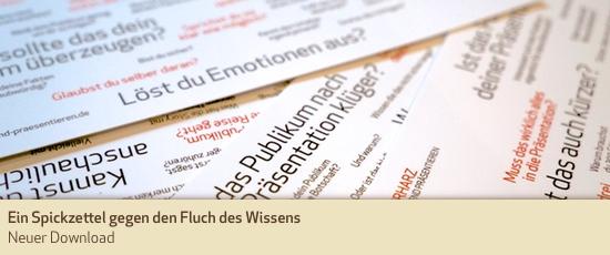 Ein Spickzettel gegen den Fluch des Wissens–Neuer Download