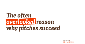 The often overlooked reason why pitches succeed