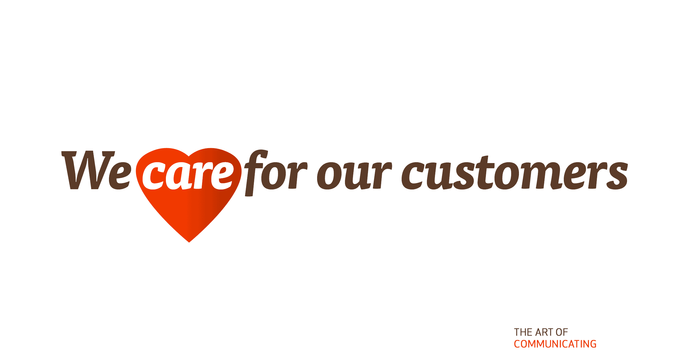 We care for our customers