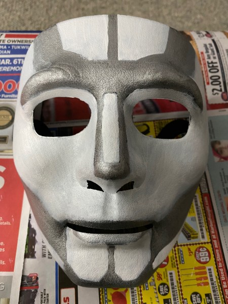 Second coat of white, and adding the metallic silver