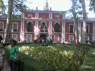SAT members in the gardens o f the Moratalla Palace