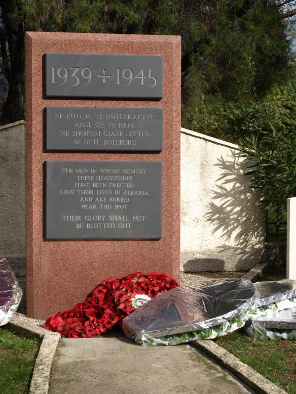 Main Memorial Stone, English Cemetery