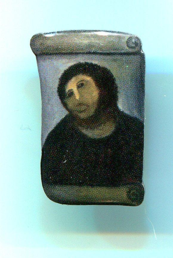 Enamel badge of the new Ecco Homo of Borja