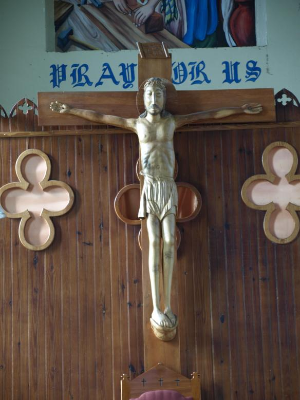 Crucifix Gros Islet Church, St Lucia