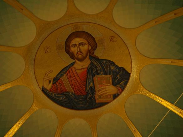 Cathedral of the Resurrection of Christ, Tirana - Christ painting on dome