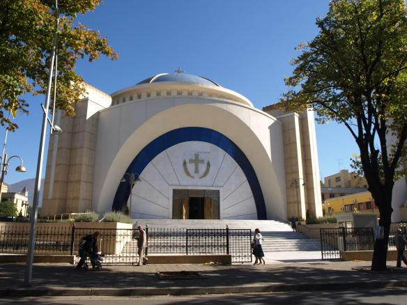 Cathedral of the Resurrection of Christ, Tirana - Main entrance