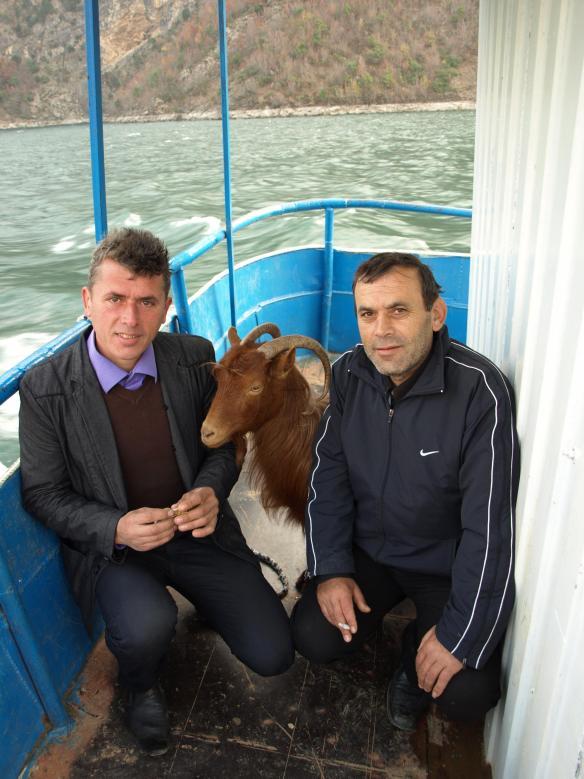 Passengers on the Lake Komani Ferry