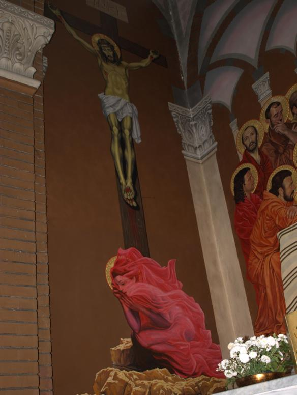 Tirana Catholic Church - Mary at the Crucifixion