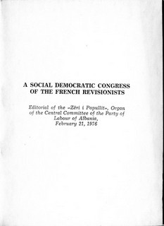 A Social Democratic Congress of the French Revisionists