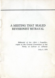 A Meeting that Sealed Revisionist Betrayal