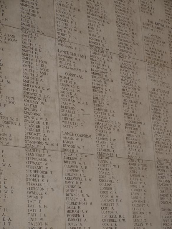 Class follows you to the grave, Menin Gate, Ypres, Belgium