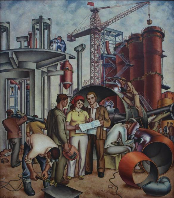 Building Socialism - National Art Gallery - Tirana