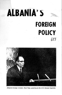 1972 Albania's Foreign Policy - Speech at the UN Nesti Nase