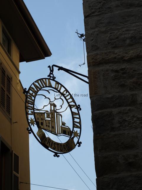 Cooperativa Citta Alta sign in Via Colleoni