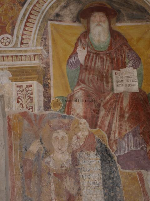 Frescoes from different centuries