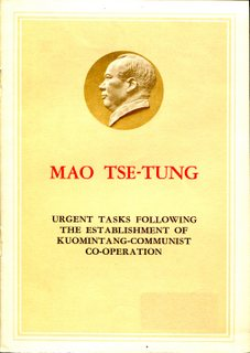 Urgent Tasks following the Establishment of Kuomintang-Communist Co-operation