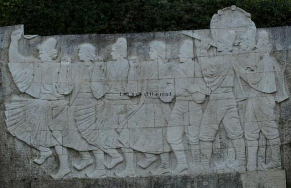 Gjirokastra - Musicians and Dancers Bas Relief