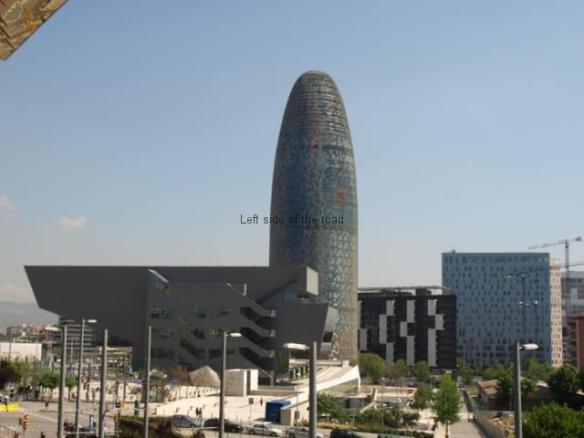 Torre Agbar from Els Encants Vells