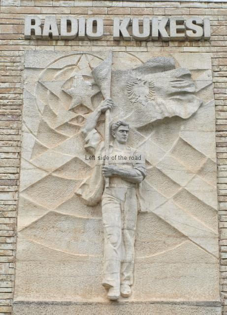 Bas relief on Radio Kukesi - 01