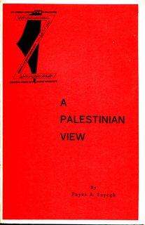 A Palestinian View - Fayez Sayegh